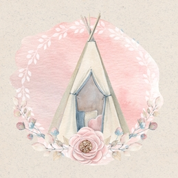Baby Girl Pink Watercolour Tippi