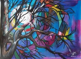 Stained Glass Trees: Moonshine