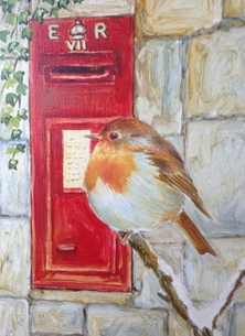 Robin with postbox