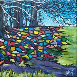 Stained Glass Trees: Avebury Roots