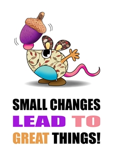 Inspirational card - Small Changes.