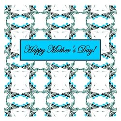 Happy Mother's Day Cheerful Spring Butterfly Pattern