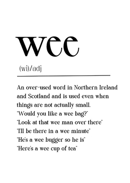 Wee Definition Card
