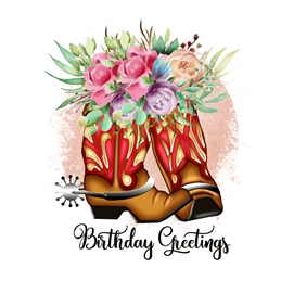 Cowgirl Boots Birthday