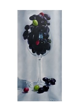 Grapes In A Wine Glass