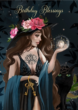 Birthday Blessings Wiccan/Pagan Card