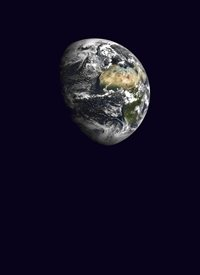 Earth. A sphere in Space.