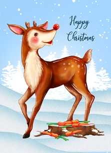 Happy Christmas from Rudolph