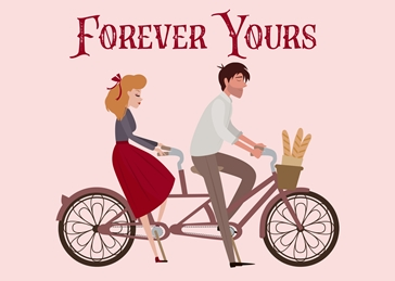 Forever Yours Romantic Tandem Bicycle