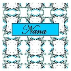 Nana Cheerful Spring Butterfly Pattern