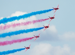 Red arrows card