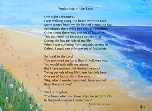 Footprints in the Sand (with text)