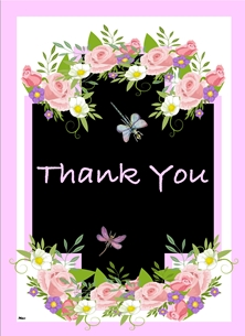 Thank You Flowers and dragonfly