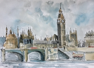 Westminster from across the Thames