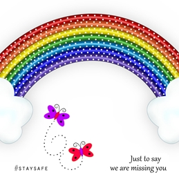 #Stay Safe Rainbow Notelet Card 3