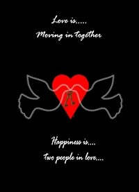 Love is.......Moving in together