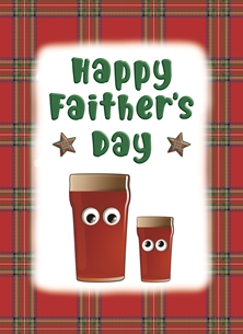 Happy Faither's Day - Personalised Scottish Banter Greetings Card
