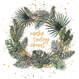 Make Today Count Wreath