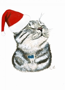 DYLAN THE CAT XMAS CARD