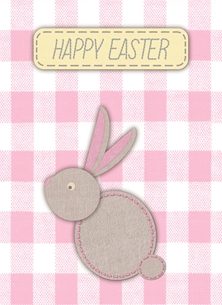 Stitch Effect Easter Card