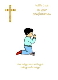 With love on your confirmation - Boy