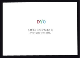 Design Your Own Card - Wide