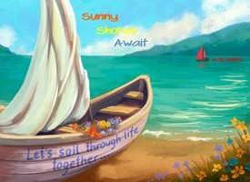 Valentine Boat Sail through Life Together