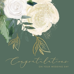 Roses and Glitter Wedding Congratulations