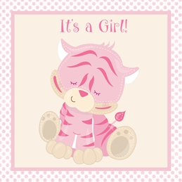 It's a Girl New Baby Card