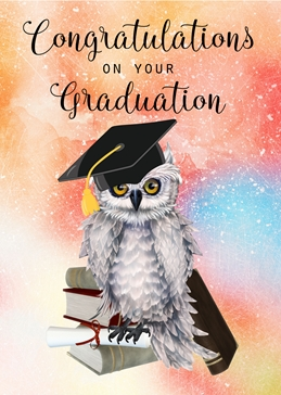 Wise Old Owl Graduation Card