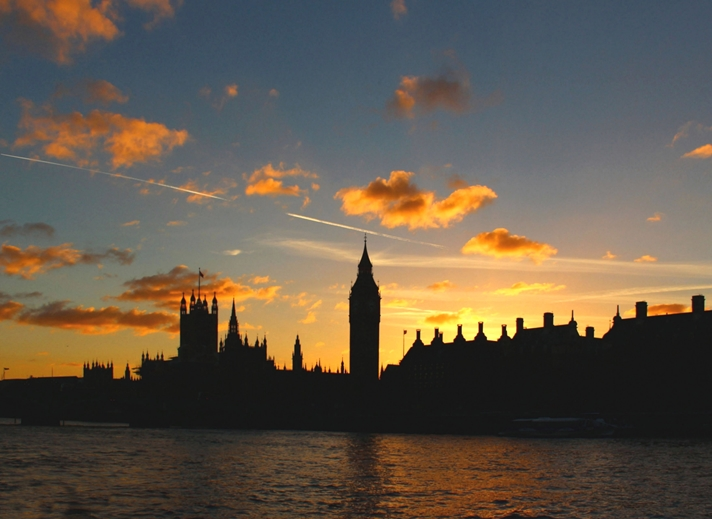 Kate Jaconello Houses Of Parliament & Big Ben Sunset  personalised online greeting card