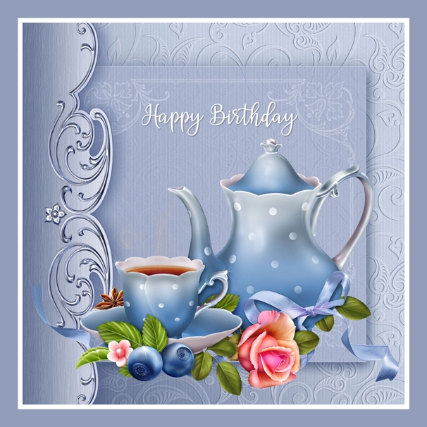 Snappy Designz Birthday Tea  personalised online greeting card
