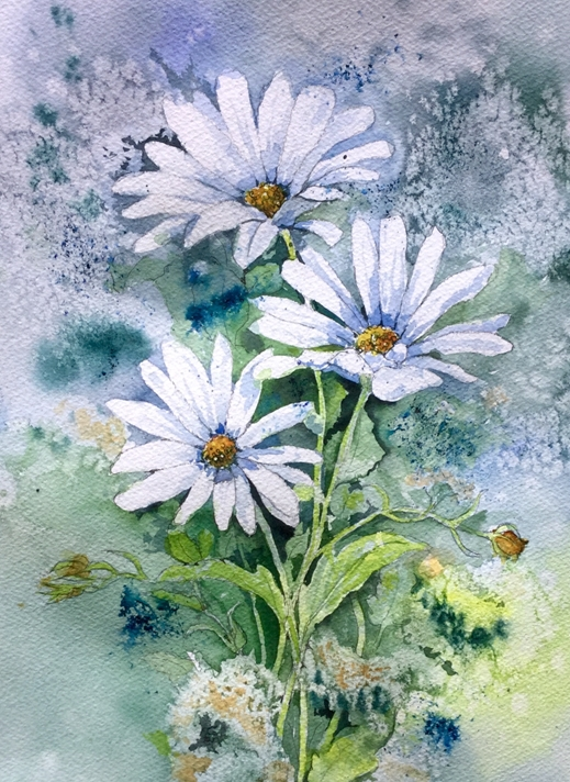 Art by Sheila O'Brien Daisies  personalised online greeting card