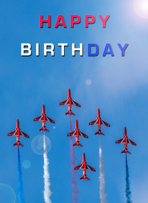 NorthLight Photo-Art Red Arrows Birthday 2  personalised online greeting card