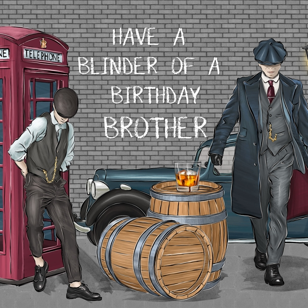 Snappy Designz Brother Birthday Card  personalised online greeting card