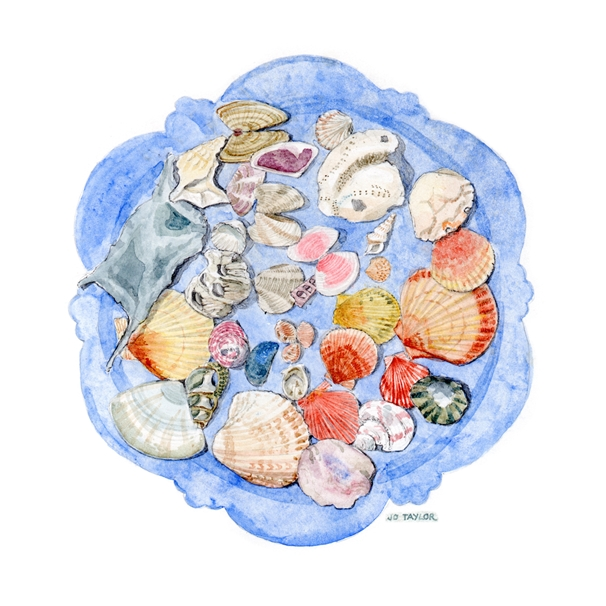 Blue Moon Cards by Jo Taylor Seashells  personalised online greeting card
