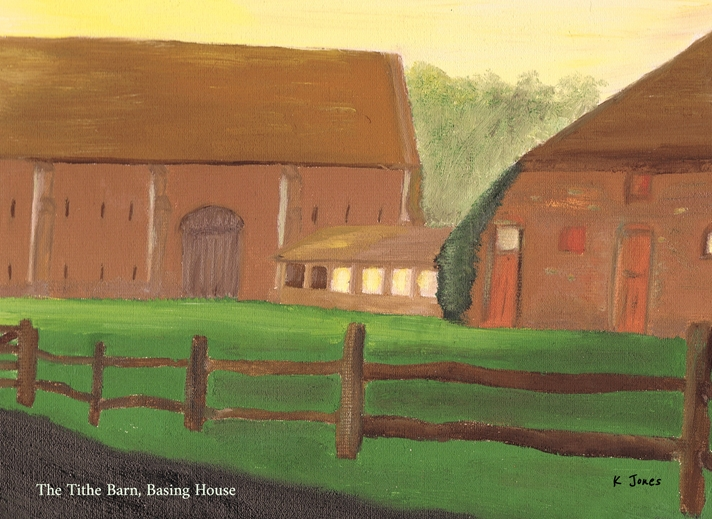 Karen J Jones Tithe Barn, Basing House  personalised online greeting card
