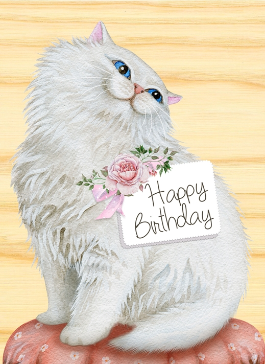 Snappy Designz Happy Birthday Cat Card  personalised online greeting card