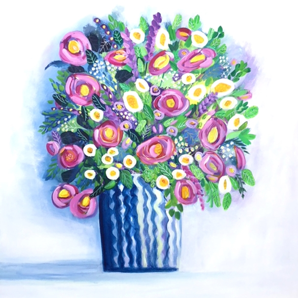 Carole Irving Art and Photography August Vase  personalised online greeting card