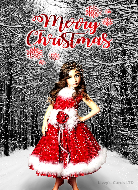Lizzy'sCardsLTD Christmas Attitude  personalised online greeting card