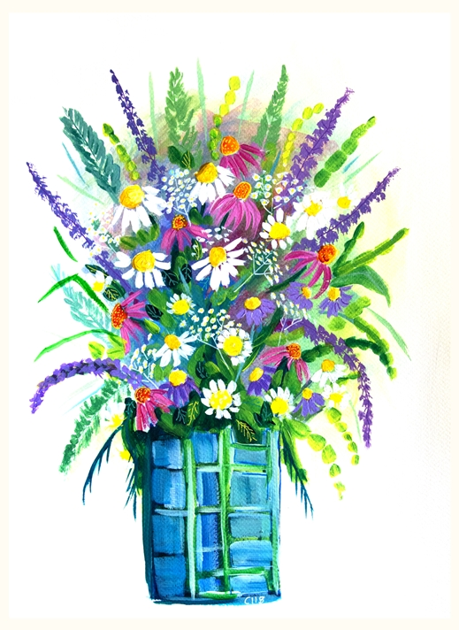 Carole Irving Art and Photography Happy Bouquet  personalised online greeting card