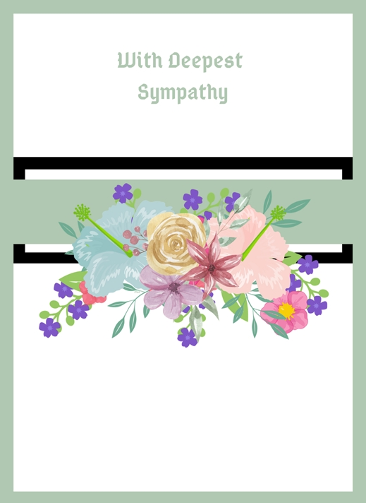 Her Nibs  With Deepest Sympathy  personalised online greeting card