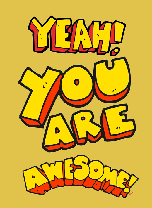 Her Nibs  You are awesome  personalised online greeting card
