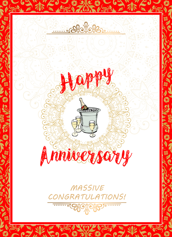 Frontloader Cards Massive Anniversary Congratulations  personalised online greeting card