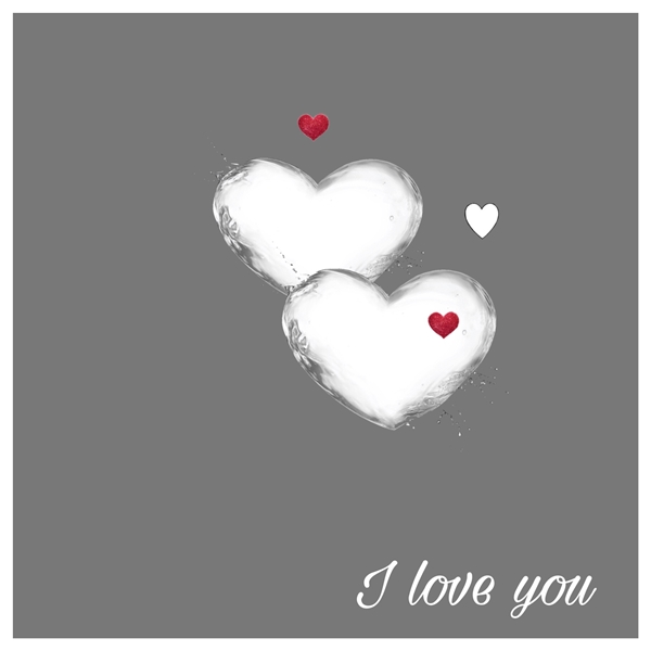 Elegant cards  Valentine's day   personalised online greeting card