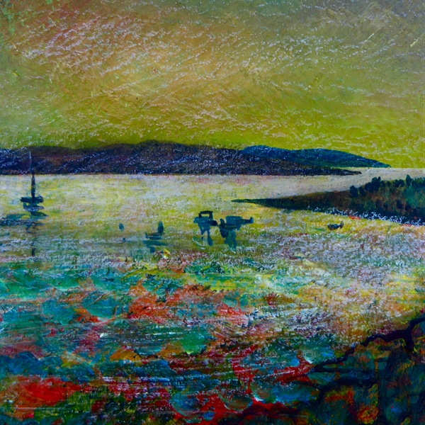 Artcards by Matthew Evans Boats at Sunset  personalised online greeting card