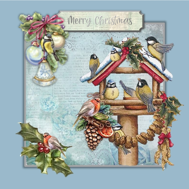 Her Nibs  Robins at Christmas  personalised online greeting card