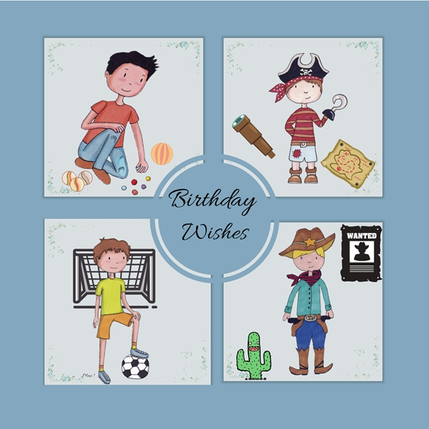 Her Nibs  Birthday Wishes-Boy  personalised online greeting card