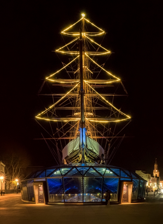 Kate Jaconello Cutty Sark at Christmas  personalised online greeting card