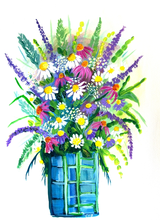 Carole Irving Art and Photography Summer in a vase  personalised online greeting card